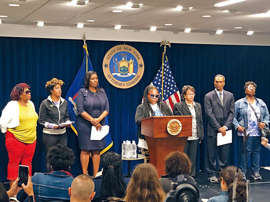 詹樂霞昨日宣布,紐約州Allcare家庭護理公司將支付45萬元現金及福利作為對超過100名員工的補償。