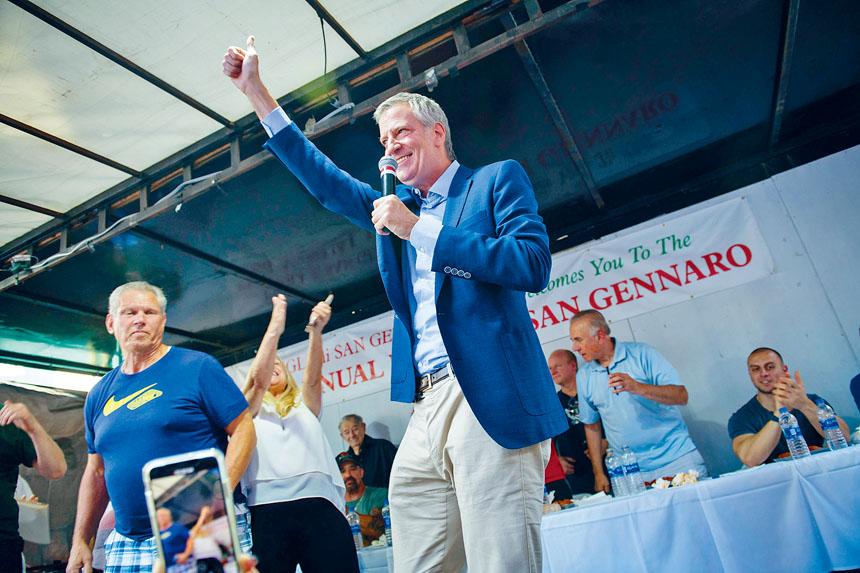白思豪「復出」的首個活動,是主持吃肉丸比賽。市長辦公室Flickr