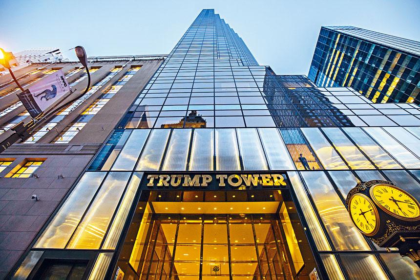 特朗普在紐約市期間,將住在特朗普大廈。Hiroko Masuike/紐約時報