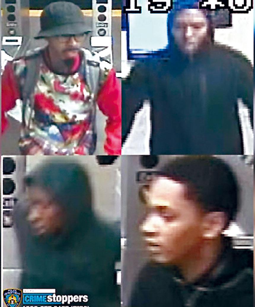 警方發布疑犯的閉路電視畫面。紐約市警務處圖片