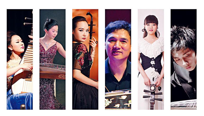 武漢大學音樂學院中國音樂演奏小組,第一次參加9月22日的「友誼地久天長中美音樂會」。華聯會提供