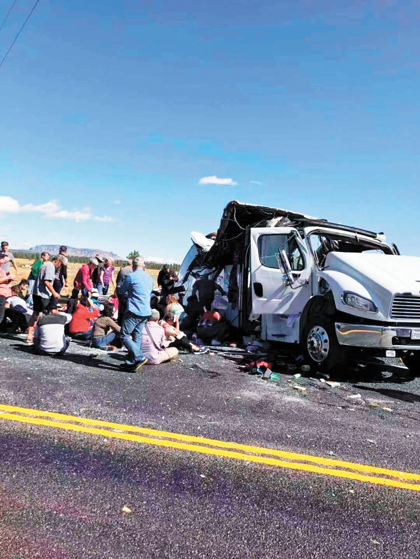 車禍現場照片。劉女士丈夫拍攝