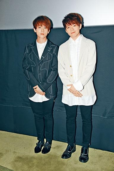 姜濤與陳卓賢出席音樂電影首映