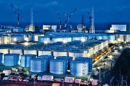 福島核電廠廢水儲存庫。