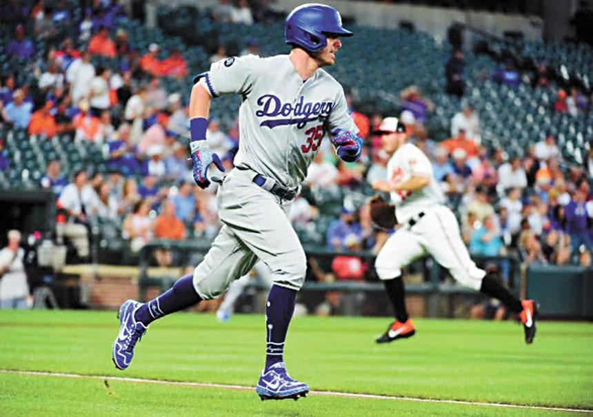 洛杉磯道奇隊成為2019賽季首支鎖定MLB季後賽資格的球隊。網上圖片