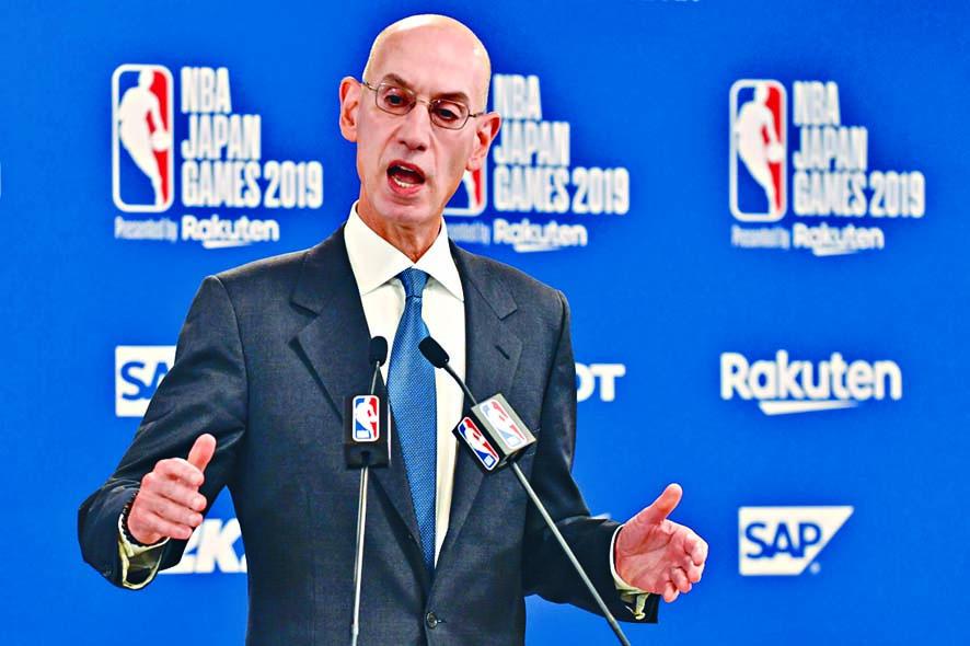 NBA主席施華表態支持莫雷的「言論自由」。