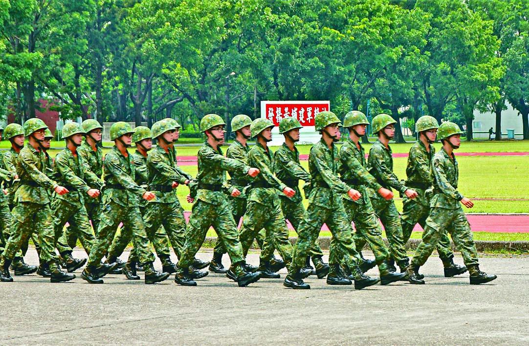 ■美軍報道指台灣預備軍人三分 之一拒絕回營訓練。  資料圖片