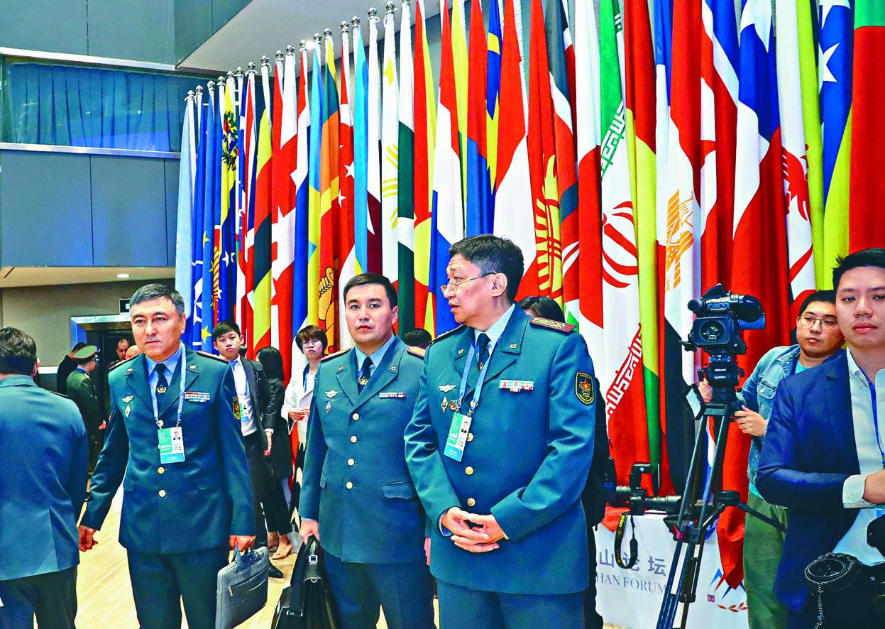 香山論壇有來自全球七十多個國家的高級將領到會。