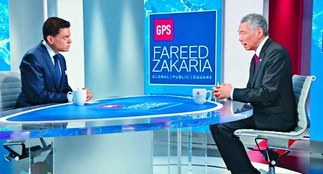 李顯龍上月接受了美國有電視新聞網專訪。