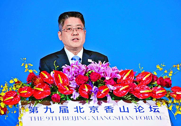 副外長樂玉成在香山論壇不點名批評美國。