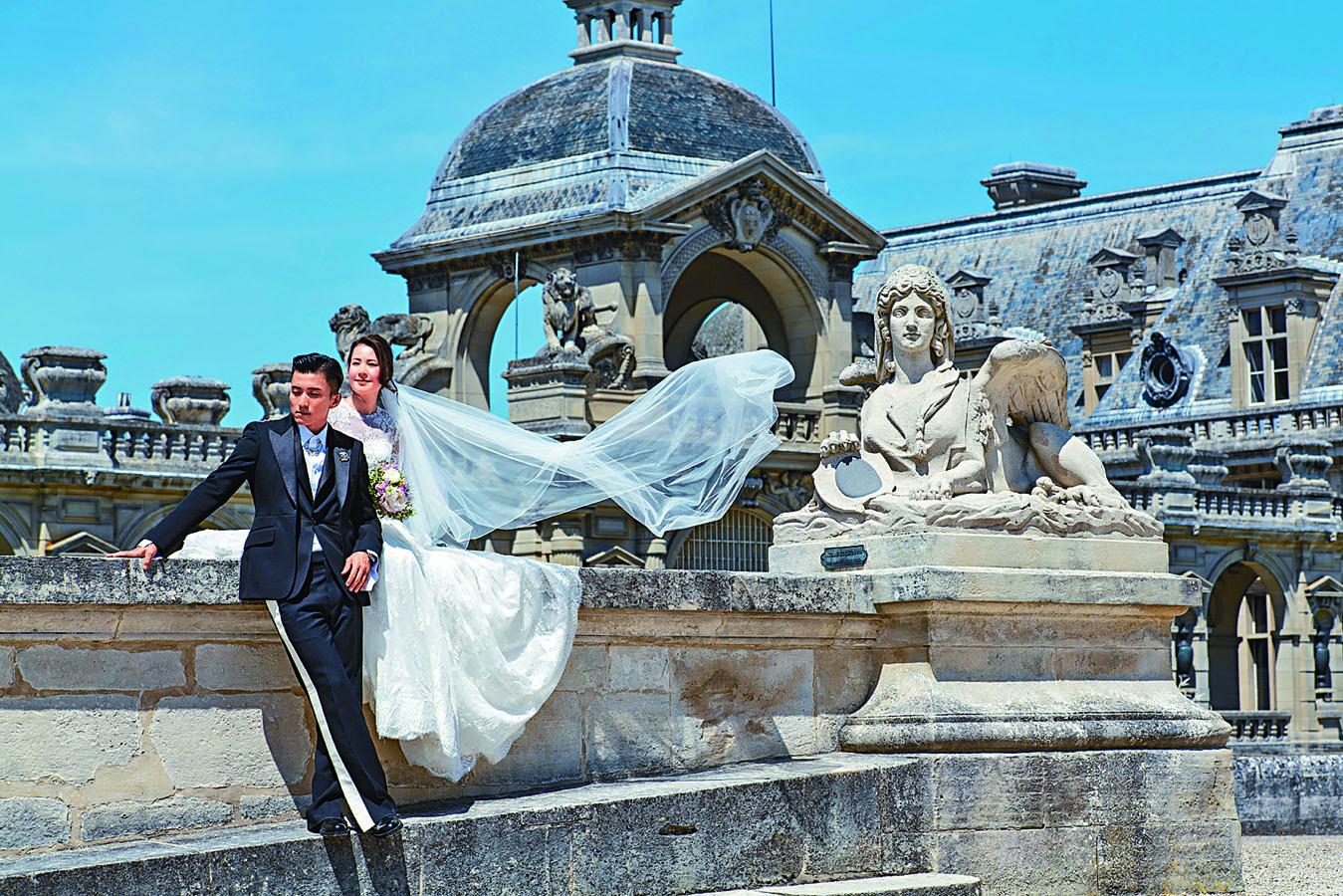 山聰帶未婚妻到法國拍婚照,希望為兩人留下美好的回憶。