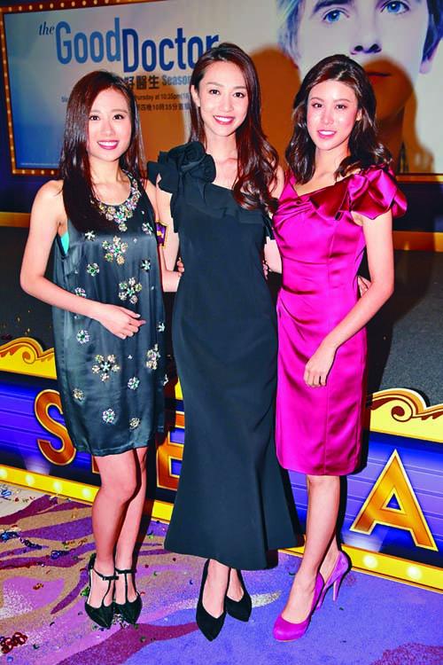 港姐王菲(左)、黃嘉雯(中)及古佩玲目前均以慈善工作為主。