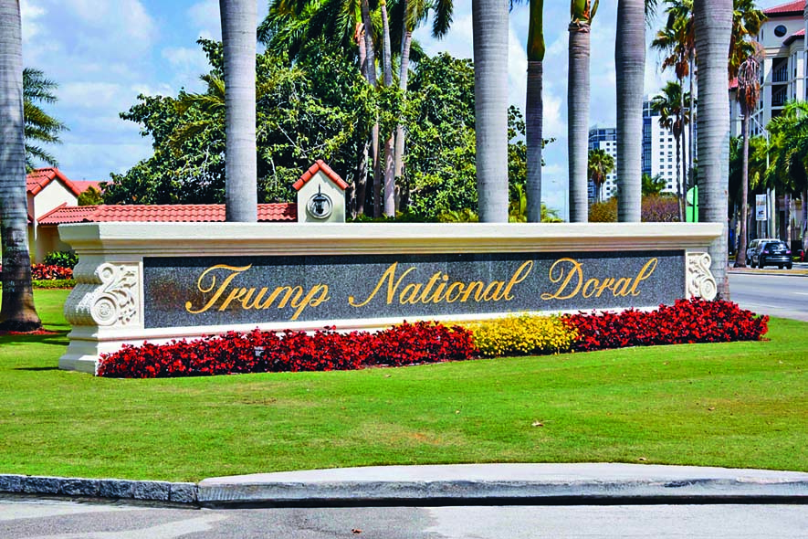■位於邁阿密的特朗普國家多拉高爾夫度假村。