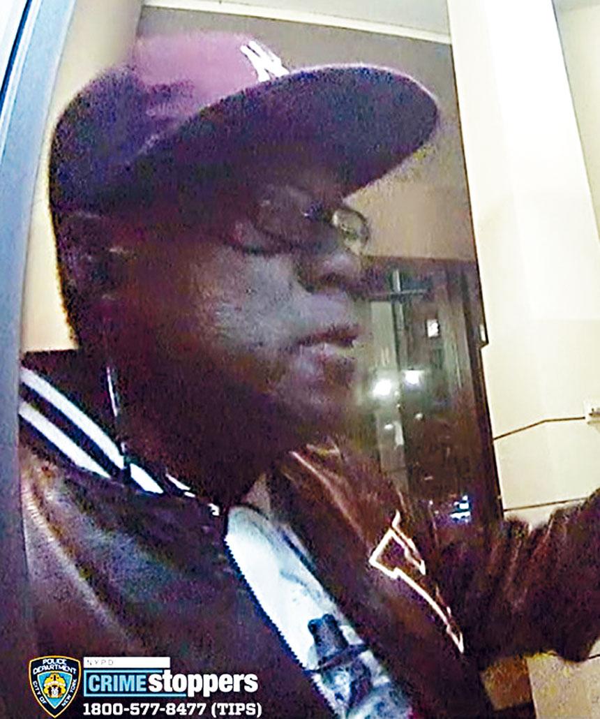 非裔男性嫌犯。 警方提供