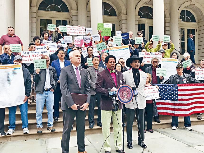民代和社區代表反對建監獄計劃。