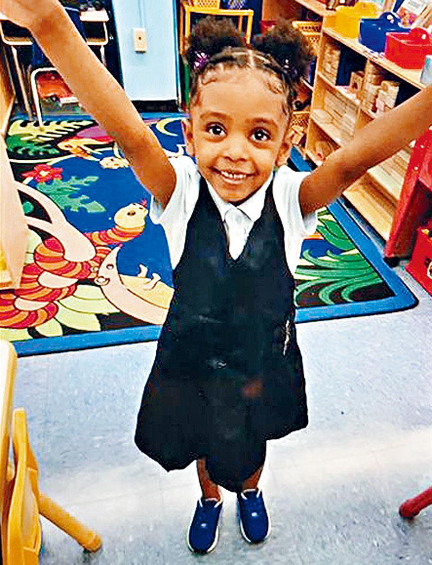 失蹤4歲女孩在附近一間日託中心安全尋回。紐約市警務處圖片