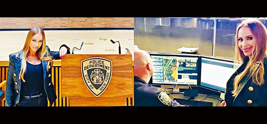 尤卡蒂斯在紐約市警務處總部多處拍照,當中包括高度敏感地區。網上圖片