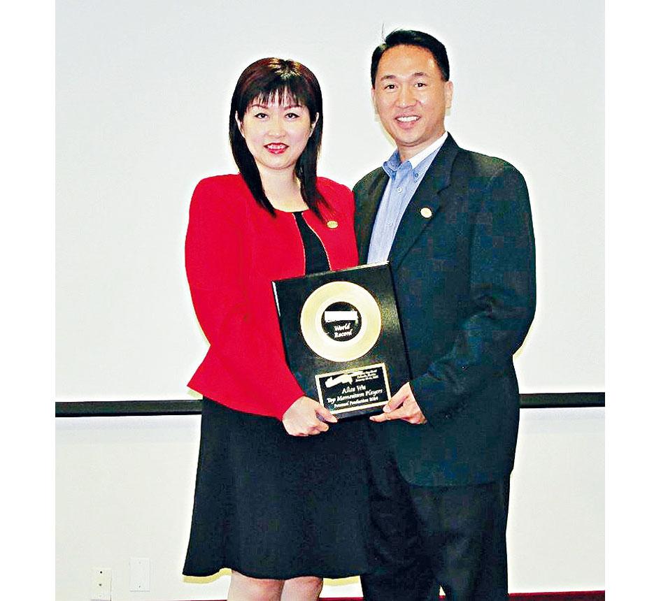 圖為區域經理Steven Ting/Alice Wu。