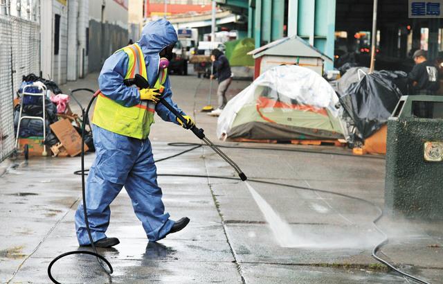 聯邦環保署批評加州任由城市街道上的人類糞便污染下水道系統,三藩市本地辦公室事先並不知情。美聯社資料圖片