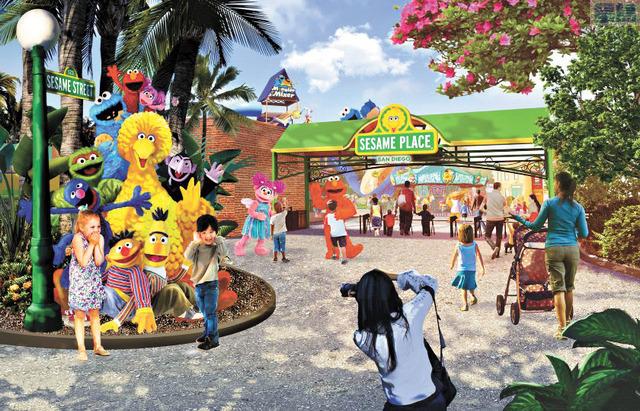 海洋世界將在聖地牙哥縣開設全美第二個芝麻街主題樂園  預計 2021年春季開幕。海洋世界娛樂公司