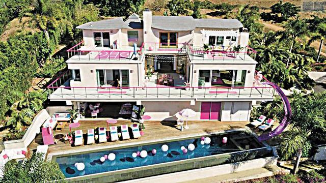 南加州馬里布芭比粉紅夢幻豪宅將以每晚60元限時特價出租。Airbnb