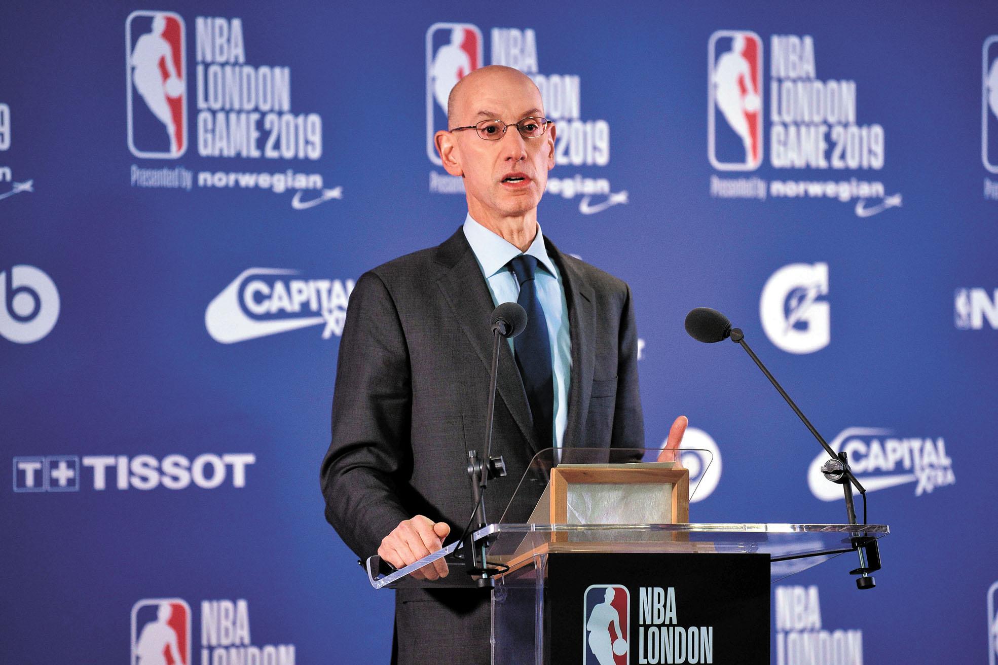 NBA總裁蕭華7日表示,自己已經知悉這一事件對聯盟造成的損害,但選擇支持莫雷言論自由的權利。法新社