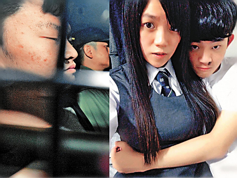 台灣殺人案疑犯陳同佳(右)將於23日在香港獲釋,表明願意出獄後返台自首。資料圖片