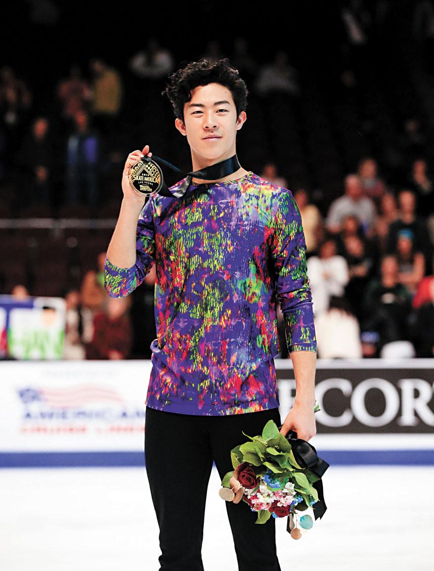 陳巍的表演難度高優勢也非常大,最終他在美國站實現了三連冠。路透社