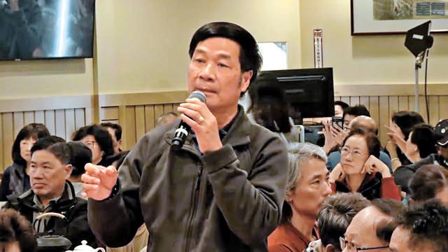 中華總會館總董黃楚文發言。本報記者攝