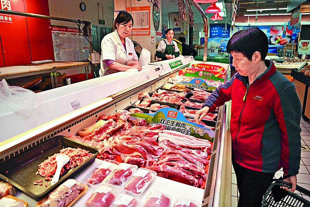 受豬瘟疫情影響,中國市場上的豬肉供應緊張。