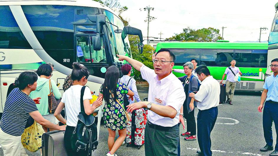 去年日本大阪受颱風吹襲。中國領使館協助中國旅客撤離,其中包括部分台灣旅客。 資料圖片