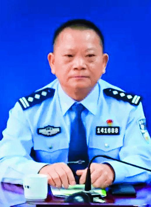 汕尾前公安局副局長鄭海陸。