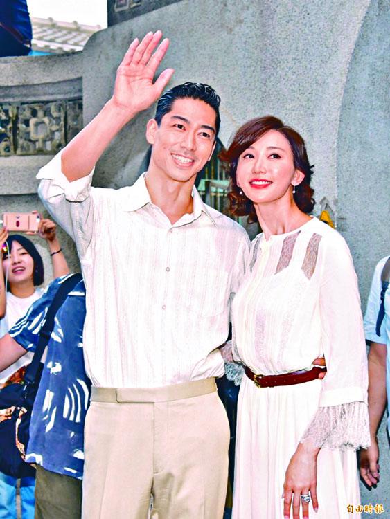 林志玲與老公Akira現身為婚禮綵排。