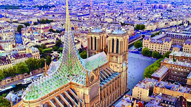 ■ 法國建築事務所V i n c e n t C a l l e b a u t Architectures提出的一個現代化設計。 互聯網