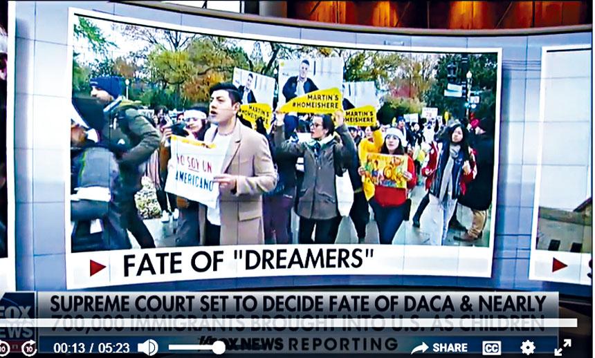 公民及移民服務局數據顯示,有近8萬名透過計劃留美的「夢想生」(Dreamers)有被捕紀錄。FOX截圖