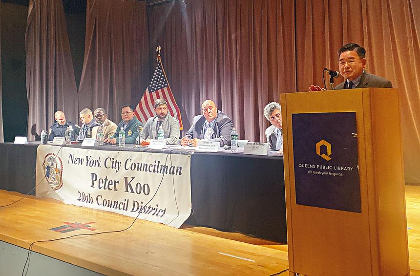 顧雅明和市府8個部門舉辦宣導座談會。
