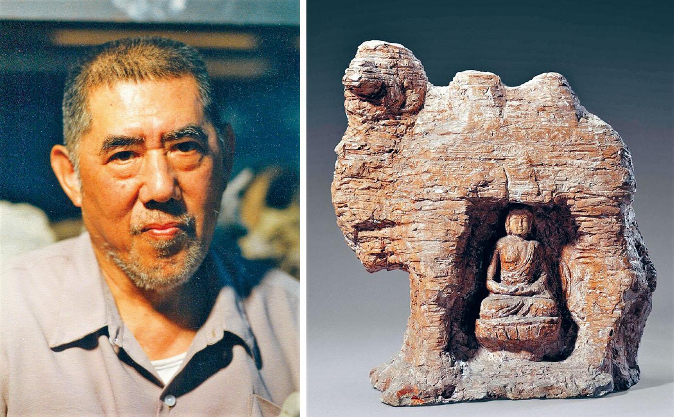 (左圖)已故中國著名雕塑家劉士銘。主辦方提供。(右圖)劉士銘雕塑作品「絲綢之路」。