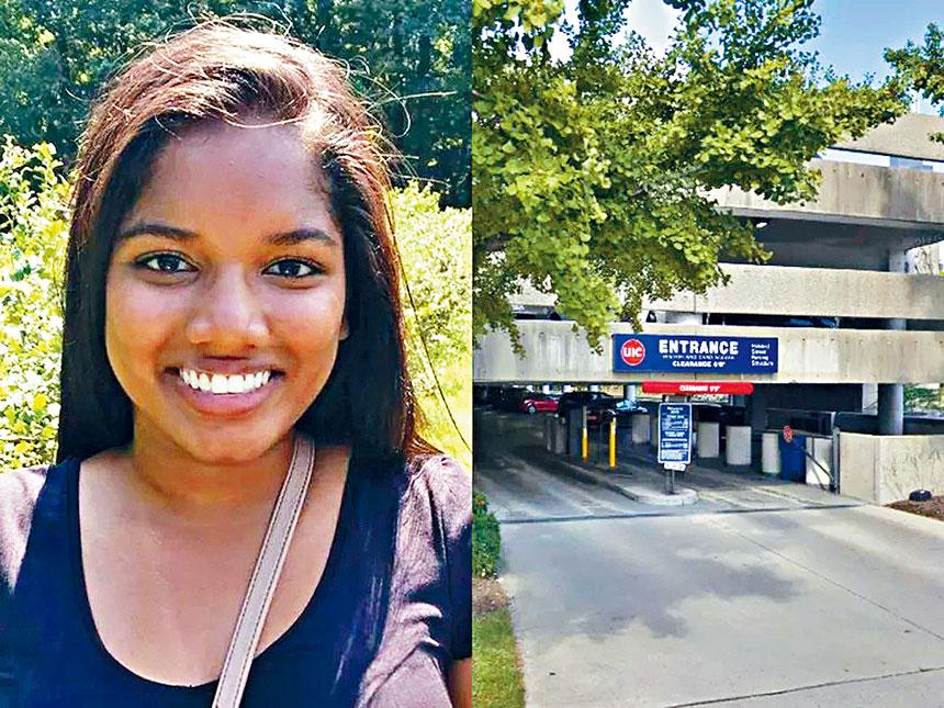 不幸在停車場被謀殺的19歲女生。圖右為UIC在豪斯德路的停車場。UIC官網