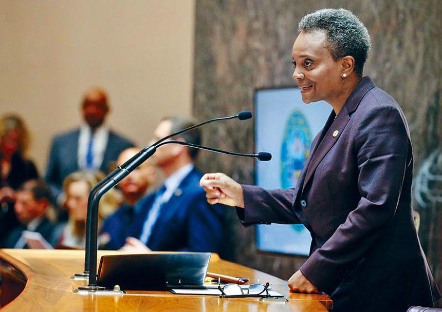 芝加哥市長羅麗萊德福特第一次公布芝市2020財政預算,開源節約、增長稅賦填補赤字。 芝加哥市府官網
