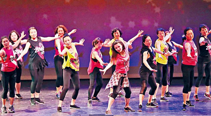 希望波城Zumba舞跳出不老青春真我風釆。