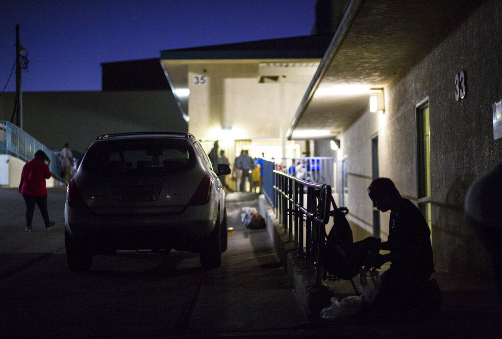 拉斯維加斯市中心附近的救世軍無家可歸者收容所。拉斯維加斯評論報/美聯社