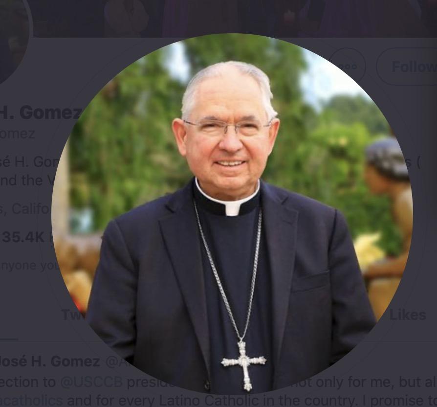 洛杉磯教區大主教戈麥斯成為首位西語裔美國主教團主席。推特圖