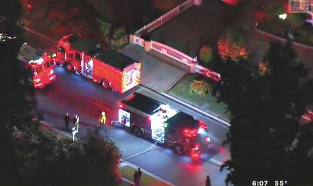 亞凱迪亞市一棟百萬豪宅疑似被做為製毒實驗室,18日深夜突然爆炸。CBSLA