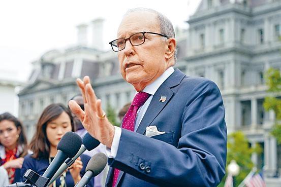 白宮首席經濟顧問庫德洛表示,中美接近達成貿協,雙方的談判非常有建設性。