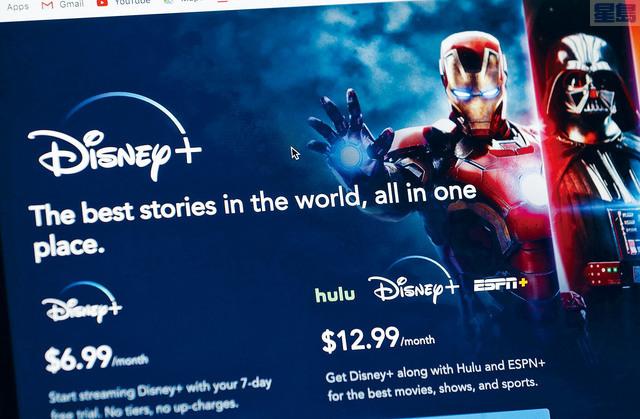 ■迪士尼公布投入服務的串流平台Disney+,首日登記用戶數目高達1000萬人。    美聯社