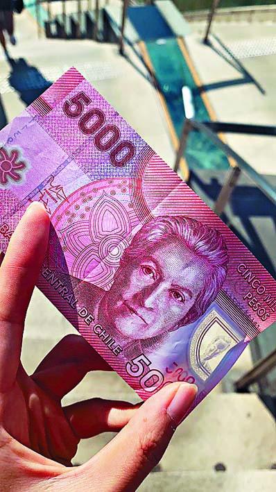 ■司機疑似用「智利比索幣」找 錢。 受訪者提供