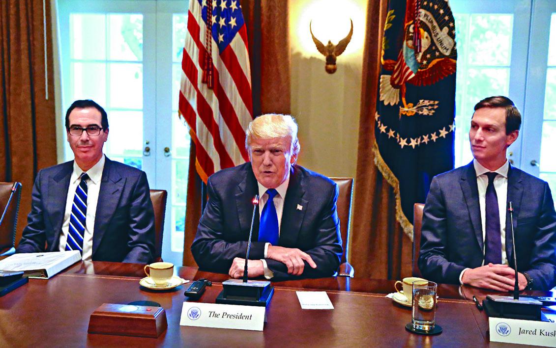 特朗普女婿庫什納(右)近日加入中美貿易談判。