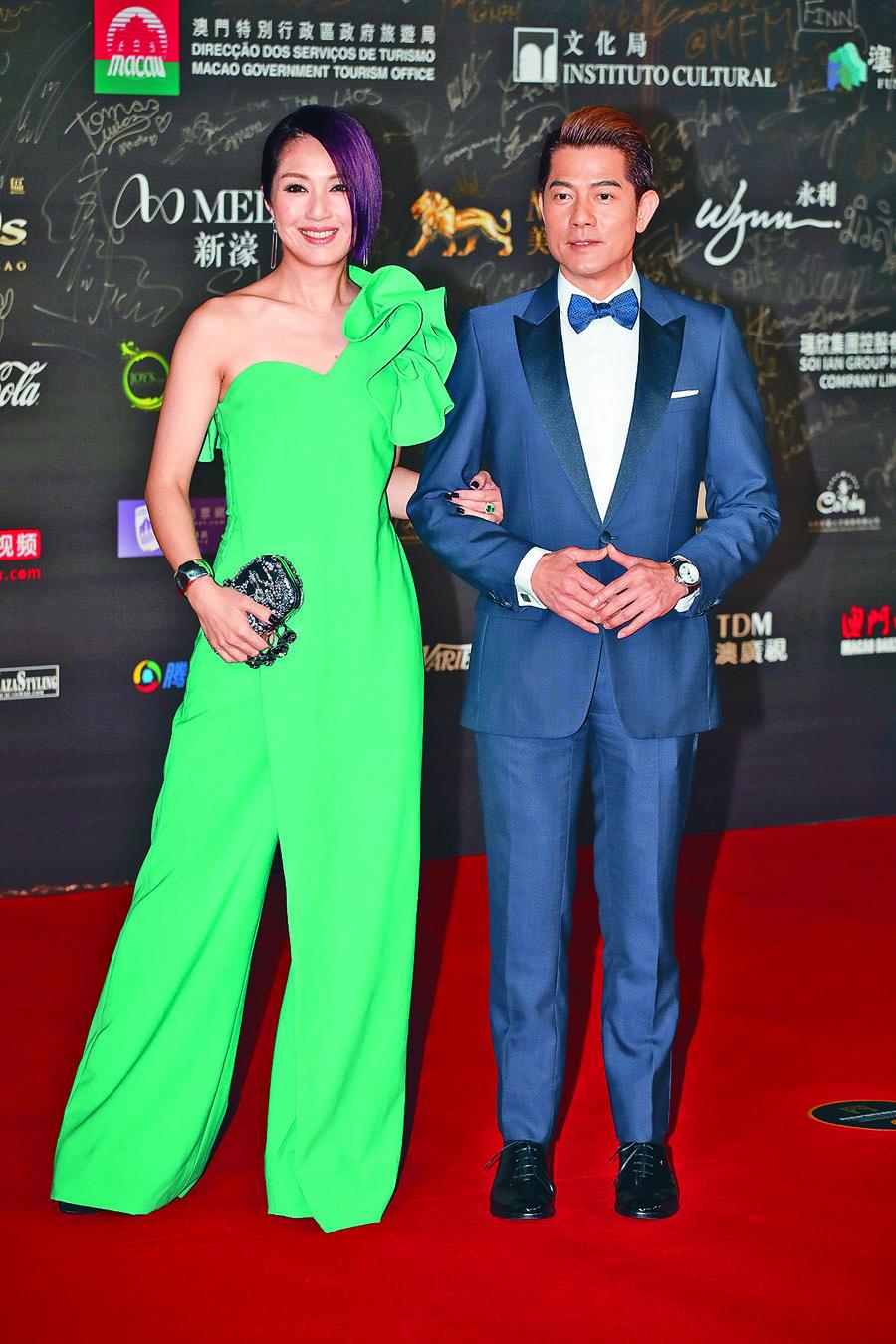 郭富城偕楊千嬅擔任「最佳導演獎」頒獎嘉賓。