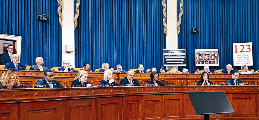 眾議院司法委員會投票批准兩項針對總統特朗普的彈劾指控。美聯社