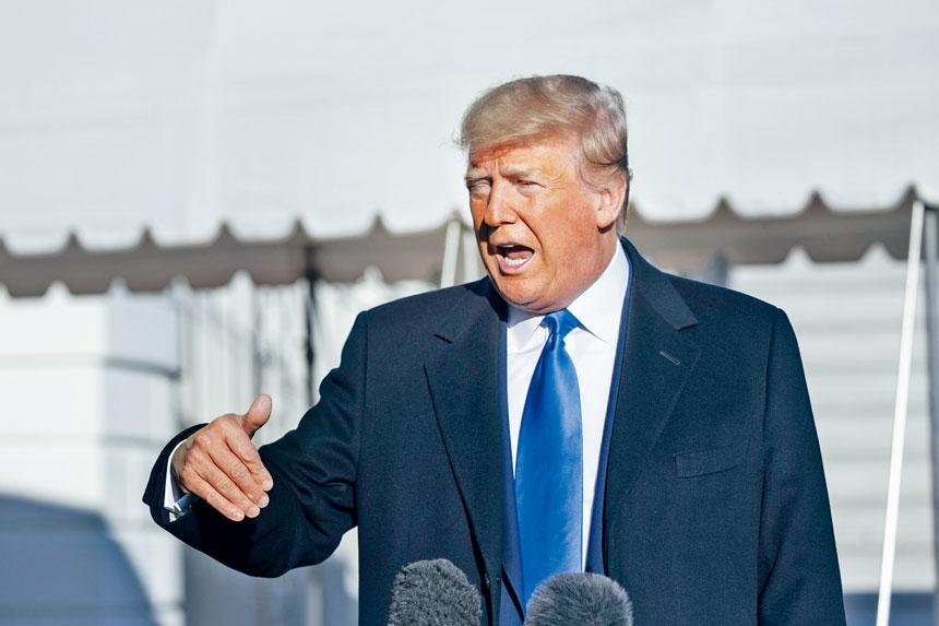 佛州基地槍擊案後,總統特朗普表示,會檢討外國軍事人員在美接受軍事訓練的政策。    美聯社